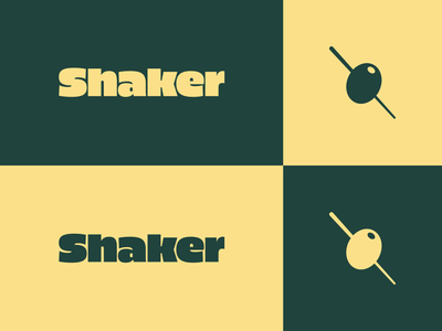 Shaker brand exploration 1 high alpha olive identity branding logo wordmark