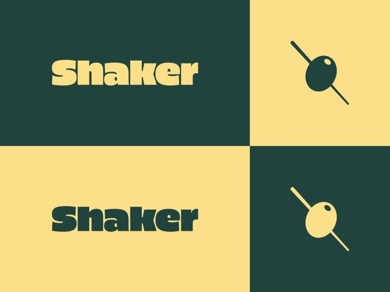 Shaker brand exploration 1 high alpha olive identity branding logo wordmark