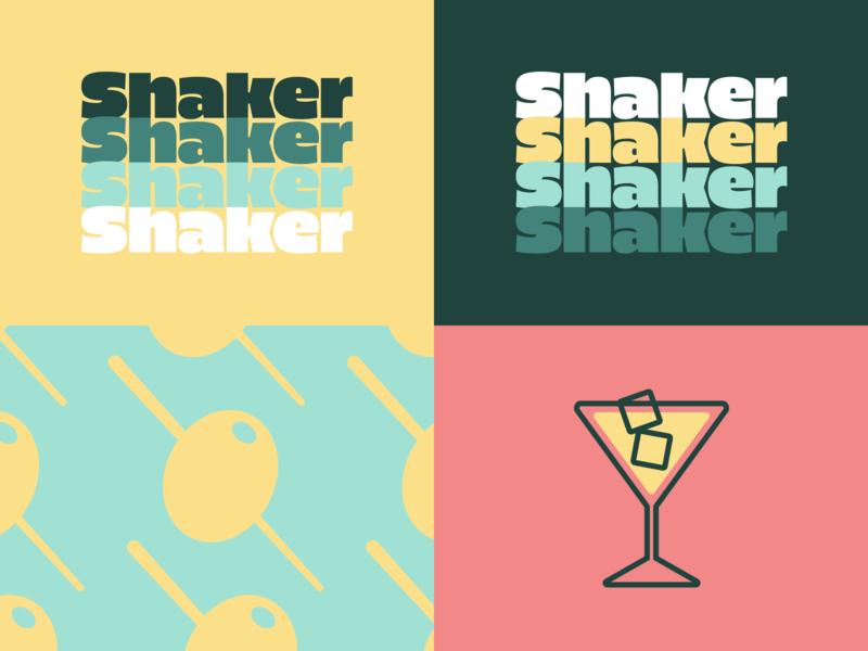 Shaker brand exploration 2 olive high alpha identity branding wordmark