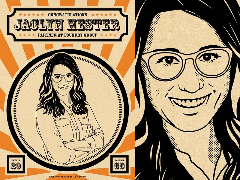 Jaclyn Hester portrait illustration poster high alpha poster design vector illustration portrait illustration portrait