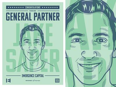 Jake Saper illustration/poster design high alpha vector illustration portrait poster