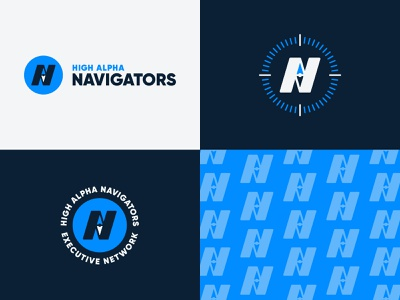 High Alpha Navigators branding badge vector compass directional adventure high alpha branding logo