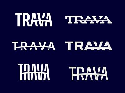 Trava word mark exploration high alpha identity branding word mark logo