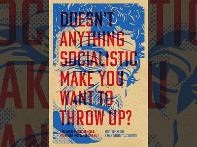 Kurt Vonnegut poster vonnegut politics poster design illustration portrait vector
