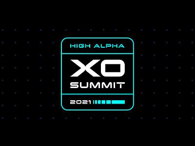 XO Summit logo exploration 2 logo design tron high alpha badge logo