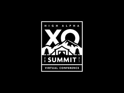 XO Summit logo exploration 5 patch high alpha adventure logo branding badge