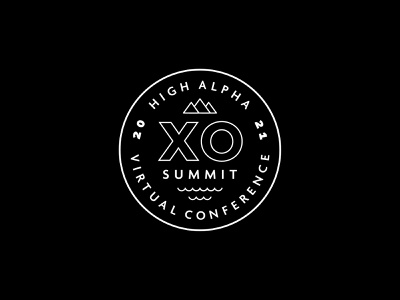 XO Summit logo exploration 6 adventure high alpha logo branding badge