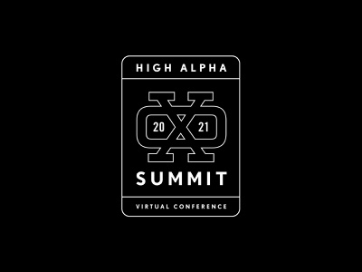 XO Summit logo exploration 7 monogram high alpha adventure logo branding badge