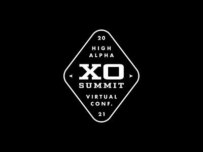XO Summit logo exploration 8 high alpha adventure logo branding badge