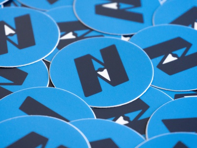 Navigators logo mark stickers branding high alpha stickers logo
