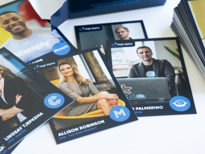 CEO collector cards collector cards high alpha branding and identity branding