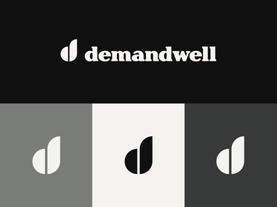 Demandwell logo exploration high alpha logo mark branding logo