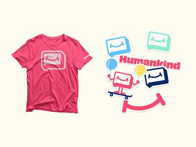 Humankind swag logo brand branding t-shirt stickers high alpha humankind