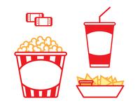 Movie Snacks icon set