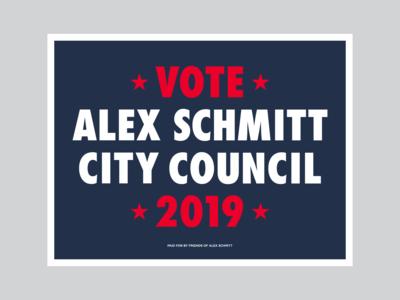 Alex Schmitt yard sign #2