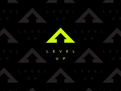 Level Up logo and pattern