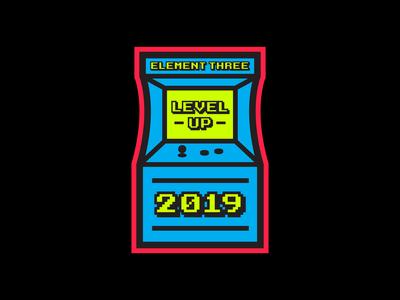 Level Up retro arcade game