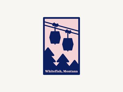 Whitefish, Montana ski lift sticker