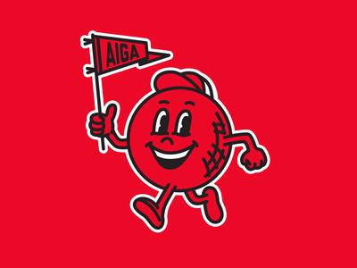 AIGA Indy kickball mascot