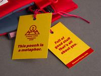 Hangtag design for Outdoor Retailer giveaway