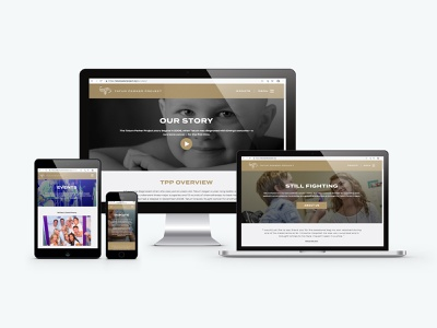 Tatum Parker Project website design element three pediatric cancer design website