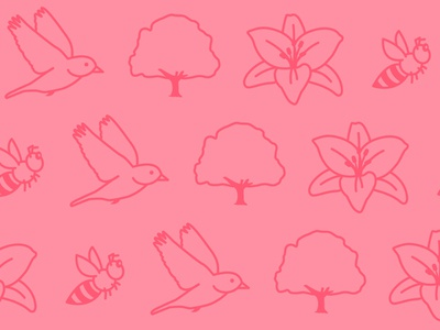 Birds, Bees, Flowers, and Trees