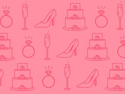 Wedding Reception ring cake champagne wedding