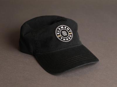 Element Three dad hats dad hat logo badge hat
