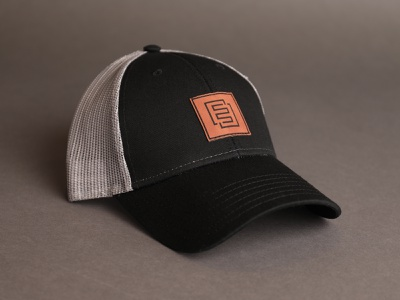 New E3 trucker hat logo patch leather element three hat