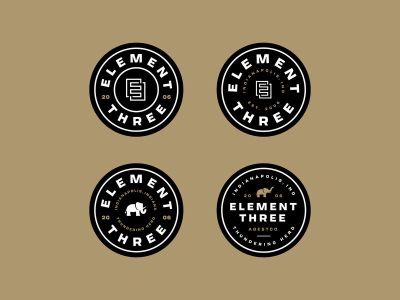 E3 dad hat badges element three dad hat patch badge