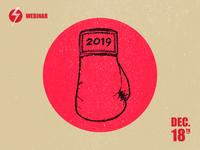 Biggest Battles of 2019 webinar graphics webinar element three boxing illustration hand drawn