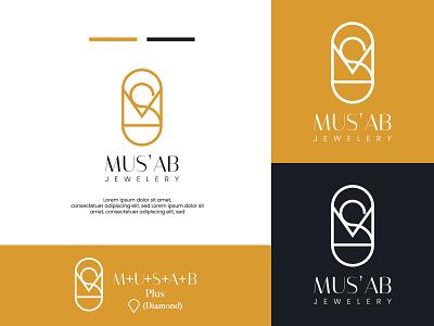 Mus'ab jewelery branding illustration graphic design design logo adobe illustrator