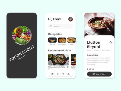 Foodilicious App Design food app ui food app food app ui design