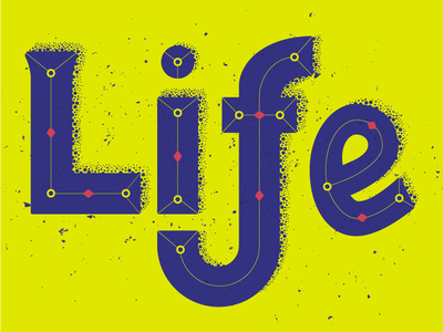 Typographic sketch fresh modern dots fun freestyle typography life