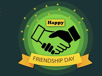 International Friendship Day Banner friends forever international friendship day graphic design
