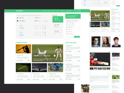 Cricket homepage