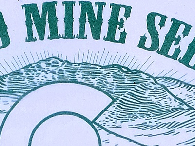 Colorado Mine Seed Mix Detail colorado one color mountains hand-drawn illustration