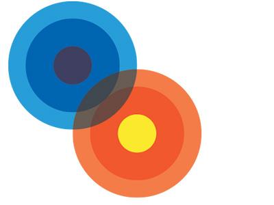 Inter-relational human services logo concept circles concept logo