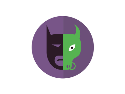 Batman Vs Bulldemon illustration fun graphic icon cute batman monster