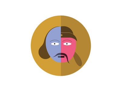 Libai Vs Shakespeare illustration fun graphic icon cute