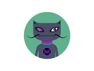 SuperCat illustration fun graphic icon cute