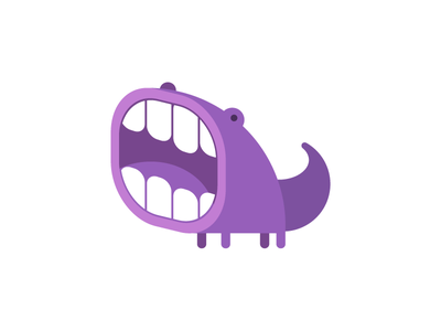 Wooof logo monster fun toy character diffworks