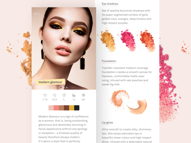Beauty and cosmetics app  Part 1  by Karolina Awizen on Dribbble