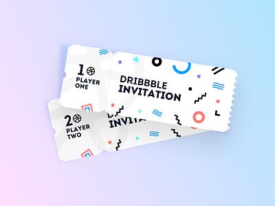 Dribbble Invitations Giveaway background fun designer design ui ux shape shapes ticket dribbble invite giveaway