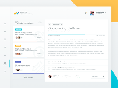 Ecommerce Dashboard Tasks Board ux ui webdesign web overview e-commerce ecommerce task tasks dashboard