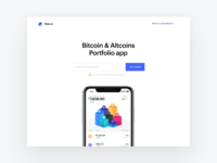 Bloko.io – Bitcoin & Altcoin Portfolio tracker – Landing Page