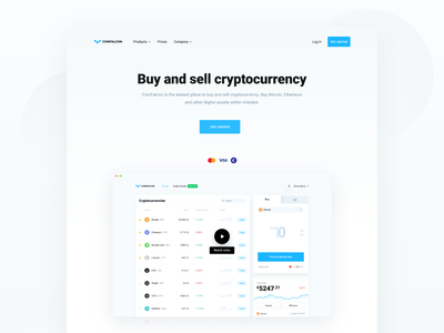 CoinFalcon - Cryptocurrency Exchange Landing Page web crypto exchange cryptocurrency app cryptocurrency exchange landing page ux ui bitcoin cryptocurrency