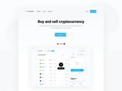 CoinFalcon - Cryptocurrency Exchange Landing Page