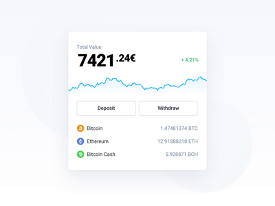 CoinFalcon - Cryptocurrency Exchange Portfolio Component motion dashboard component bitcoin animation web crypto ux ui crypto exchange cryptocurrency