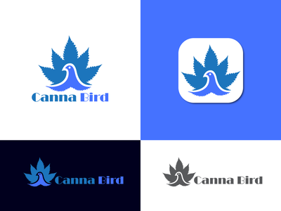 Canna Bird Logo (cannabis) cbd oil logo hemp logo canna branding canna bird icon cannabis design ecommerce illustration icon design branding modernlogo minimalistlogo logo logotype cannabis branding canna bird logo cannabis logo